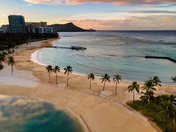 Morning Walk In Waikiki