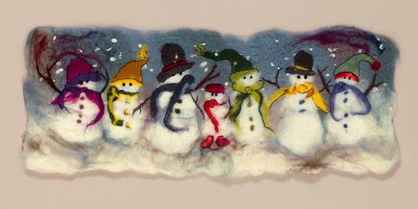 """Snow Day I"" fine art print by Paula Jean Roberts."