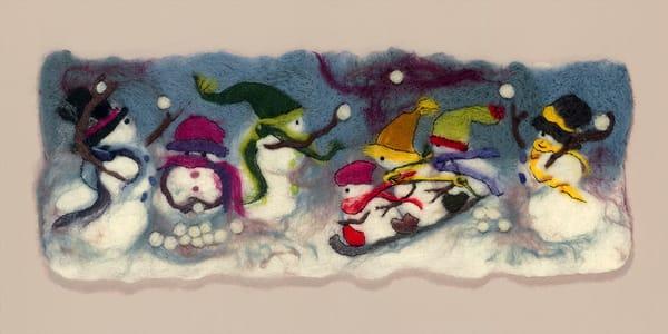 """Snow Day II"" fine art print by Paula Jean Roberts."