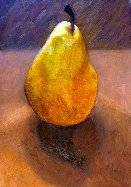 Yellow Pear Art | Helen Vaughn Fine Art