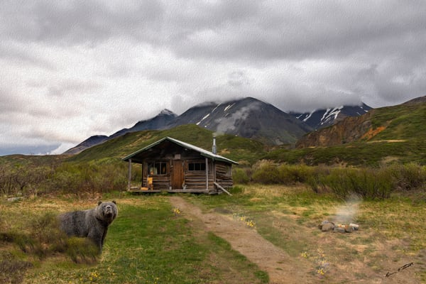 Old Cabin In The Mountains   Art Print   920 Art | Alaska Wild Bear Photography