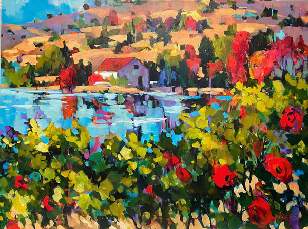 Across The Lake Art | Jill Charuk Art