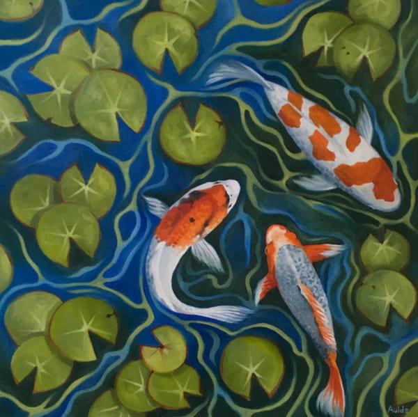 Koi Pond Art | Suzanne Aulds Studio