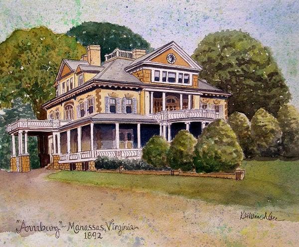 Annaburg Manor of Manassas, Virginia, USA limited-edition giclee print by Katharine Taylor