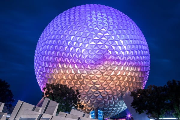 Epcot At Night Photography Art | William Drew Photography