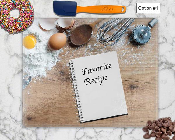 Family Favorite Recipe – Tempered Glass Cutting Board