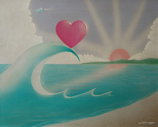 Cresting Heart Art   Lavaggi inc