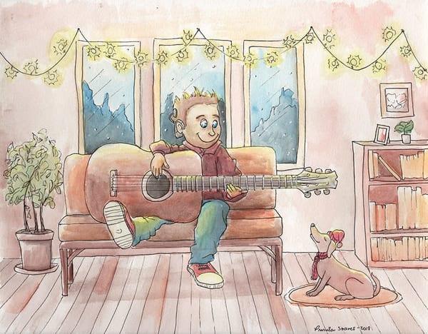 Winter Music   Original Art | Priscila Soares - MyLuckyEars
