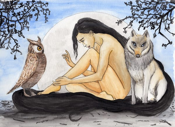 The Nest   Original Art | Priscila Soares - MyLuckyEars