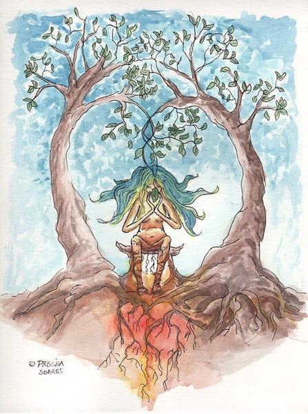 Hot Cold Meditation   Original Art | Priscila Soares - MyLuckyEars