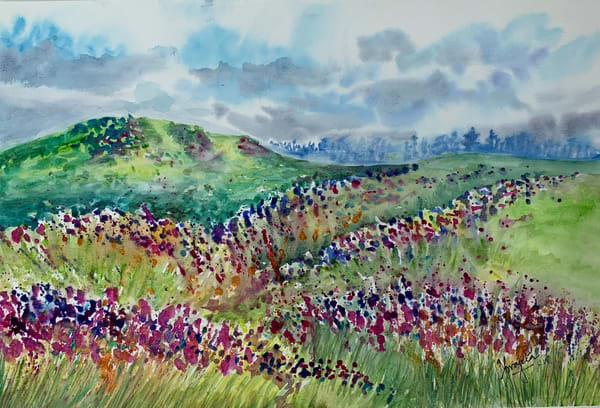 """""""Flower Valley"""" in Watercolors (12X18) by Aprajita Lal"""
