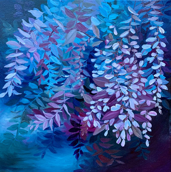 """Purple Vines"", Oils on stretched canvas by Aprajita Lal"