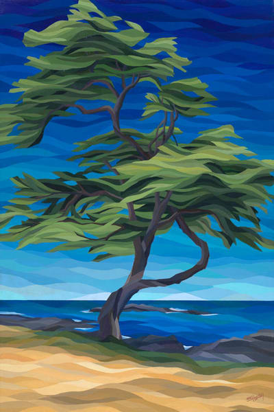 "Reproductions from ""Mauna Kea Tree"", an original 24x36 acrylic on canvas."