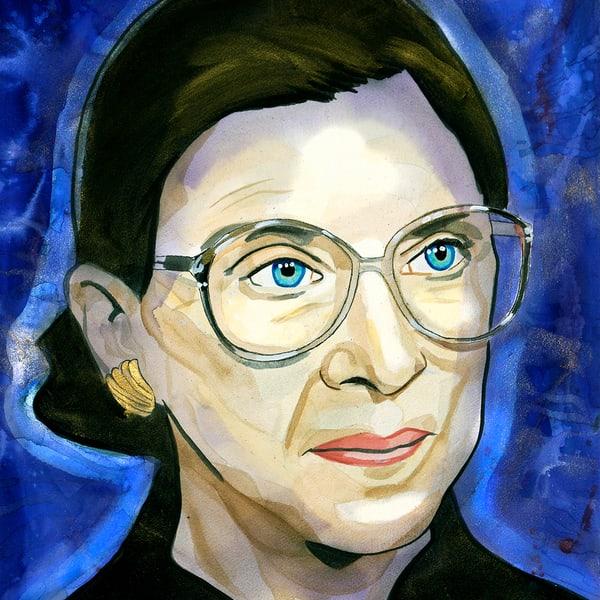 Ruth Ginsburg Coaster Art | William K. Stidham - heART Art