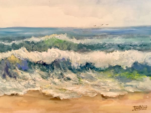Memories Of Pelican Bay Art | vibrant art studio, Art by Annette Dion McGowan