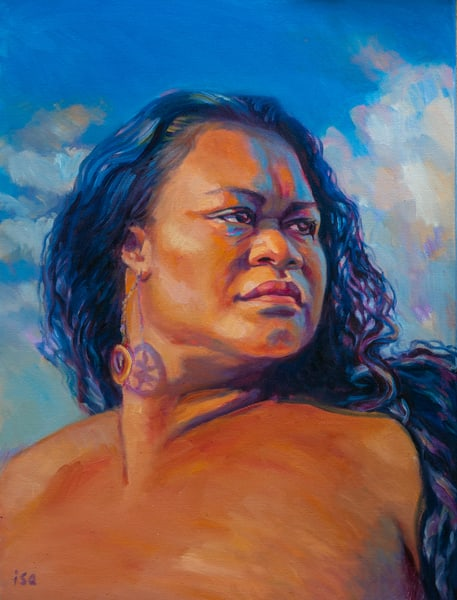 Isa Maria Art Magic - oil paintings and prints of Hawaii goddesses and mermaids - Dignity