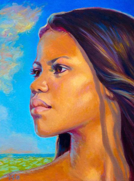 Isa Maria Art Magic - oil paintings and prints of Hawaii goddesses and mermaids - Hi'iaka