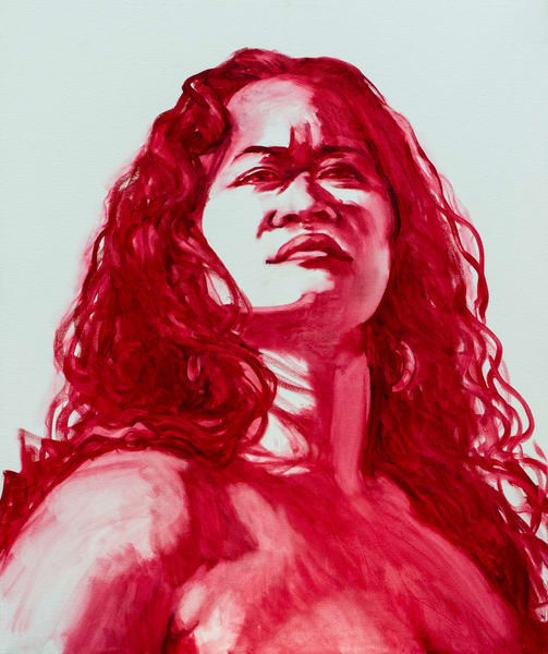 Isa Maria paintings, prints - Hawaii goddess portraits - Pele Stands In Her Power