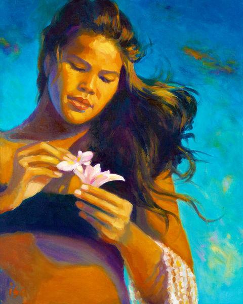 Isa Maria art, paintings, prints -  Hawaii woman - Last Light