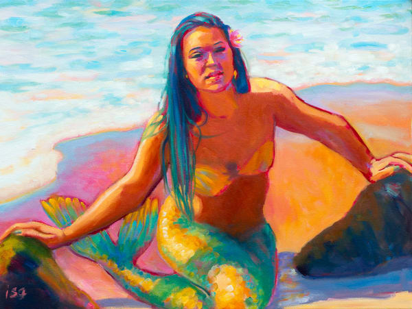 Isa Maria paintings, prints - Hawaii mermaids - Sunshine