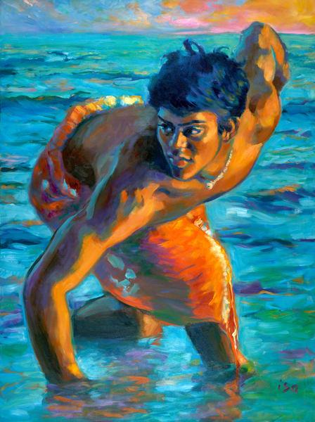 Isa Maria paintings, prints - Hawaii god, goddess portraits - Makana Sunrise