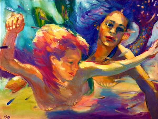 Isa Maria paintings, prints - Underwater Mermaids