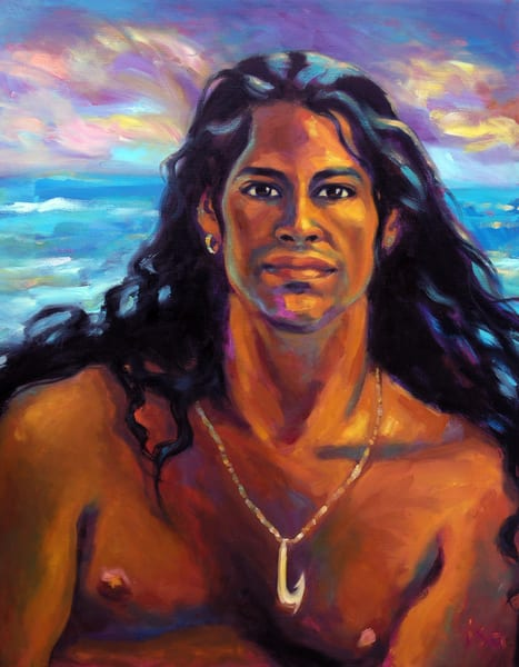 Isa Maria paintings and prints - Hawaii portraits, goddesses, gods - Wakea