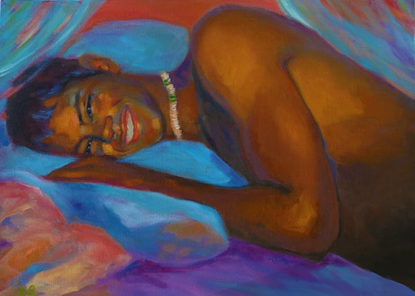 Isa Maria paintings, prints - art portrait of man - First Light