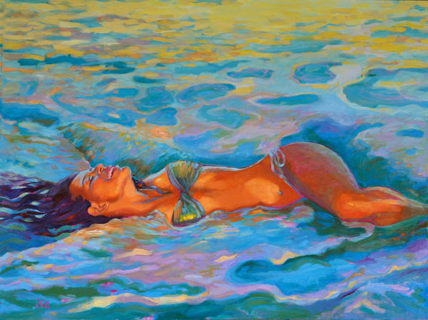Isa Maria paintings, prints - Hawaii mermaids, goddesses - Immersed in the One