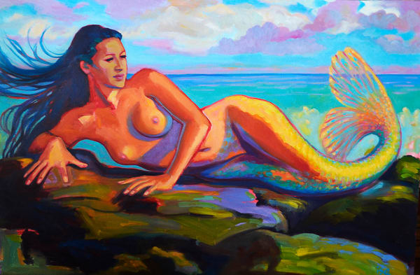 Isa Maria - paintings, prints - mermaids, goddesses - Relaxation Is Enlightenment