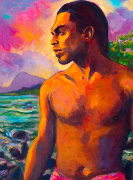 Isa Maria Art Magic - oil paintings and prints - portraits of Hawaii gods, goddesses, and mermaids - Storm Coming