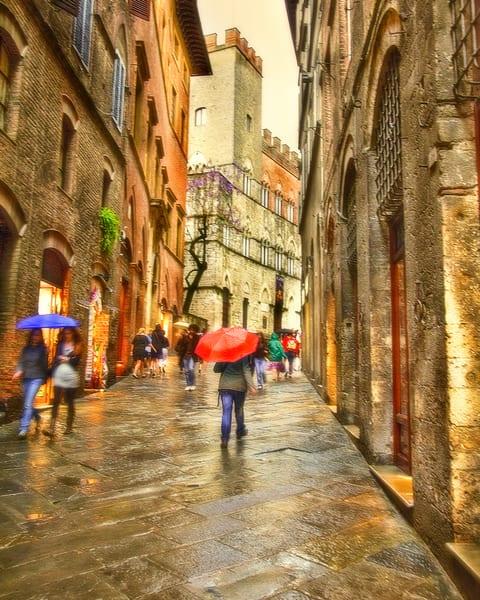 Siena in the Rain