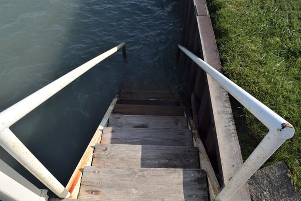 Steps Down To The Water Art | DocSaundersPhotography