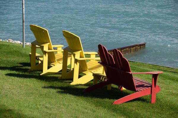 Lake Huron Lawn Chairs Art | DocSaundersPhotography