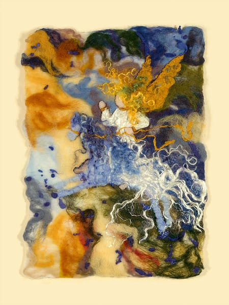 """Wild Angel III"" fine art print by Paula Jean Roberts."
