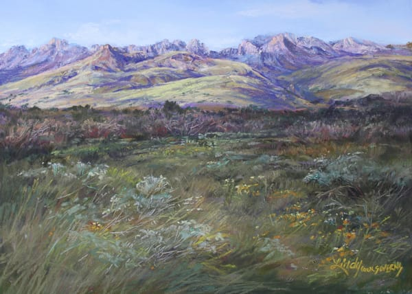 Lindy Cook Severns Art | In the Softness of a Davis Mountains Summer, signed edition