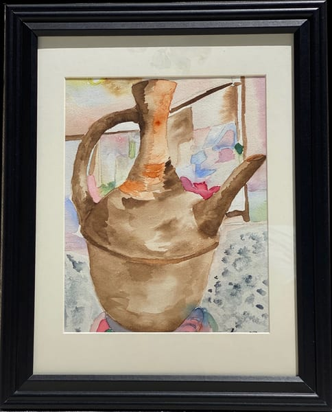Jebena/ Watercolor/ Framed  Art | Anonymous Art Studios
