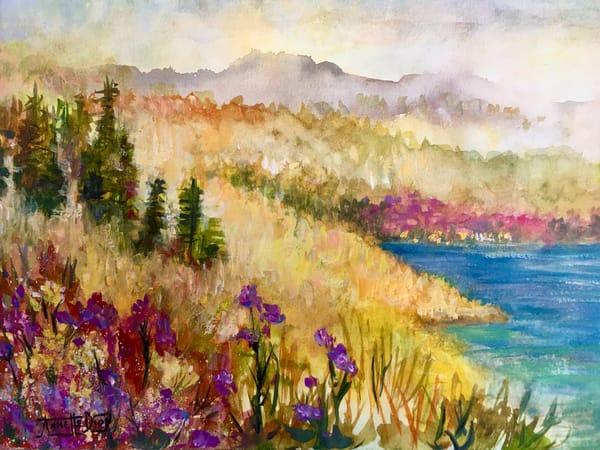 Early Morning Hike Art | vibrant art studio, Art by Annette Dion McGowan