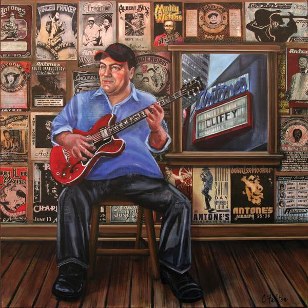 Clifford Antone's Room Of The Blues Art | Channe Felton Fine Art