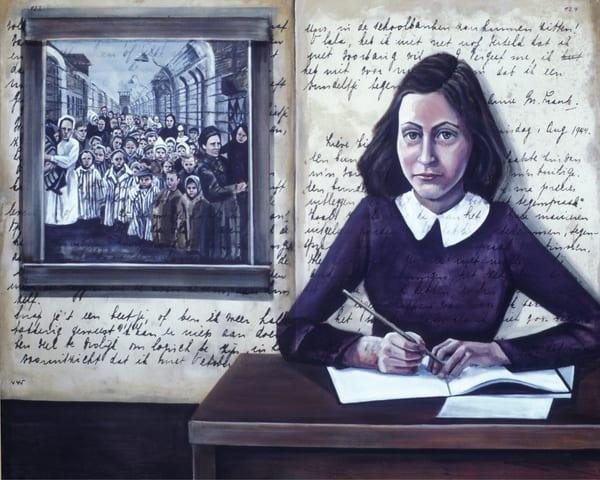 Anne Frank, The Last Page Art | Channe Felton Fine Art