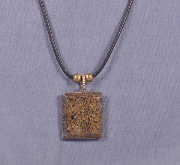 MaryAnn Swinney - handcrafted jewelry - necklace - Bronzite Square Necklace