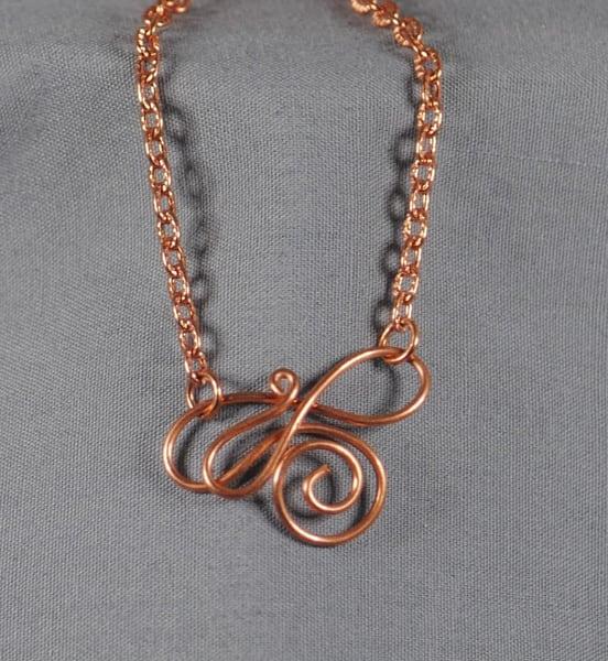 MaryAnn Swinney - handcrafted jewelry - bracelet - Copper Signature Swirl Bracelet