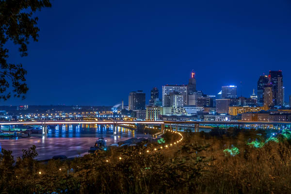 The City Of Saint Paul At Night Photography Art | William Drew Photography