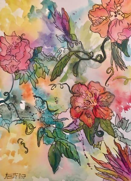 Plane Flowers Art | vibrant art studio, Art by Annette Dion McGowan