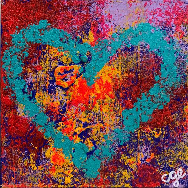 Aqua Heart Art   Courtney Einhorn