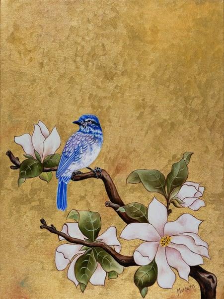 Bluebird Of Happiness   Landed:  Original Art | Mercedes Fine Art