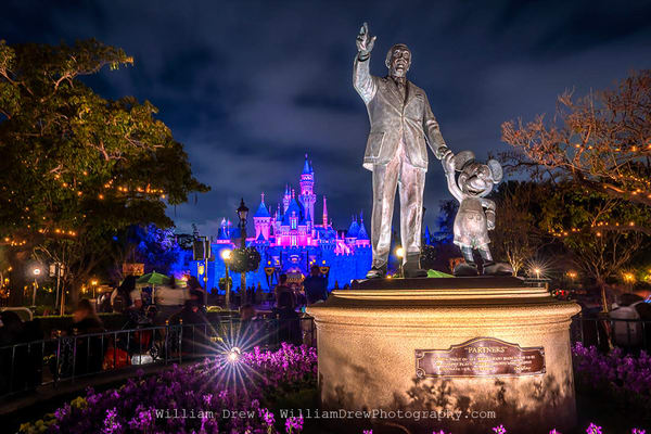 Disneyland At Night   Disneyland Wallpaper Murals Photography Art | William Drew Photography