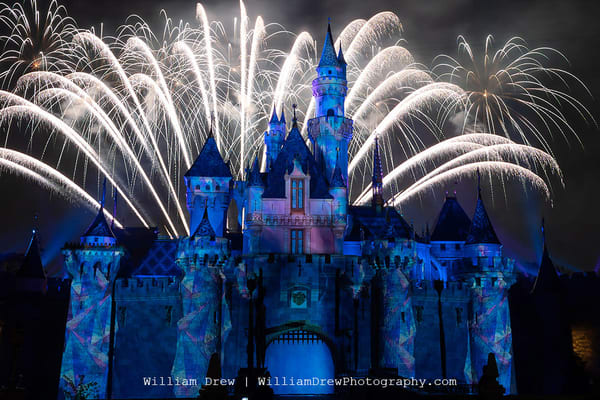 Mickey's Mix Magic With Fireworks Let It Go   Disneyland Wall Mural Photography Art | William Drew Photography