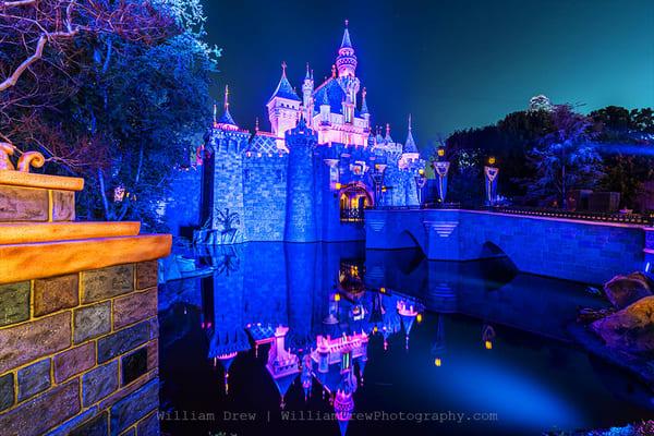 Sleeping Beauty Castle At Night   Disneyland Wall Murals Photography Art | William Drew Photography