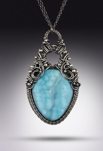 Archipelago Larimar Necklace Art | Texas MerMade